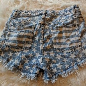 Shorts with stars!! Worn once!